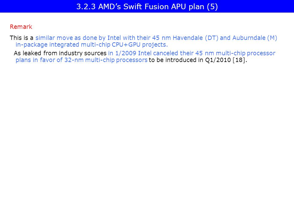 3.2.3 AMD's Swift Fusion APU plan (5)