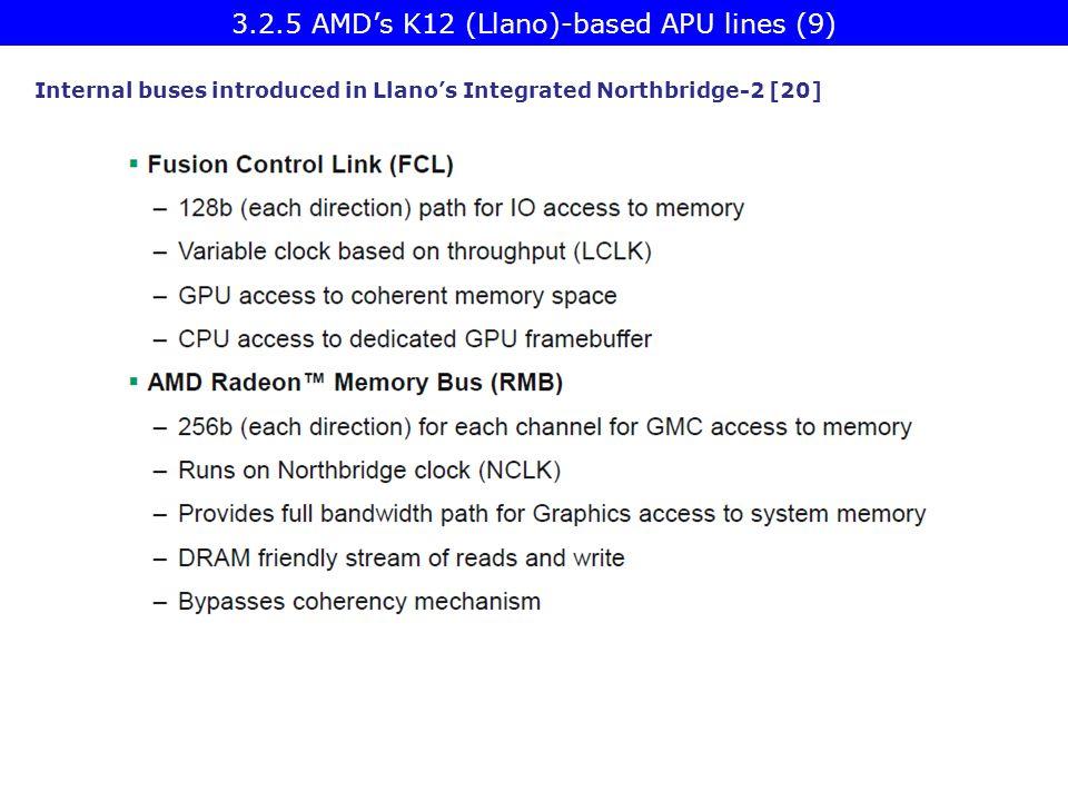 3.2.5 AMD's K12 (Llano)-based APU lines (9)