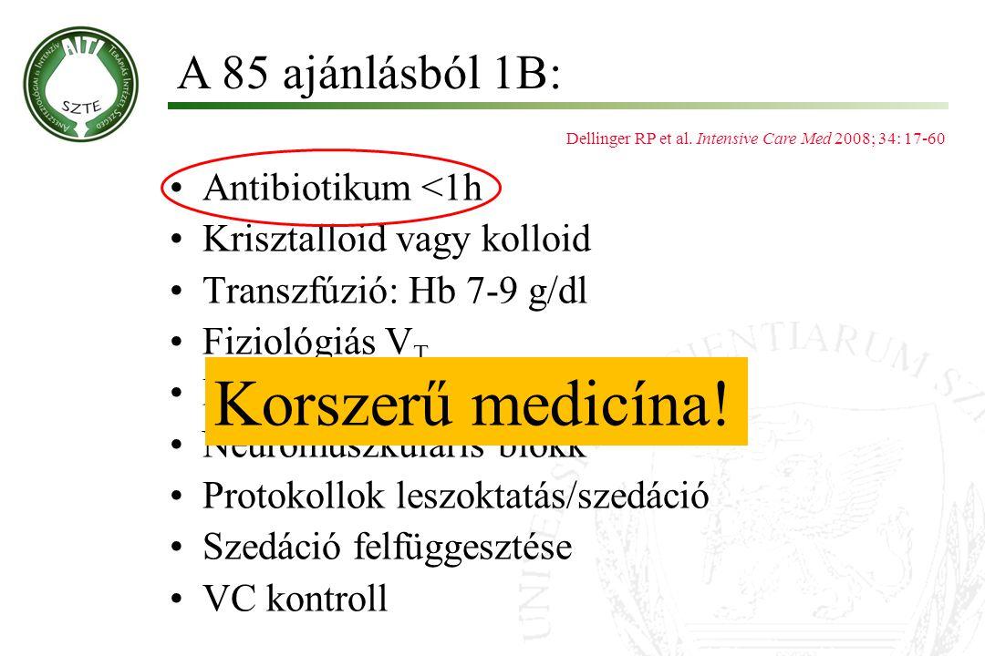 Korszerű medicína! A 85 ajánlásból 1B: Antibiotikum <1h