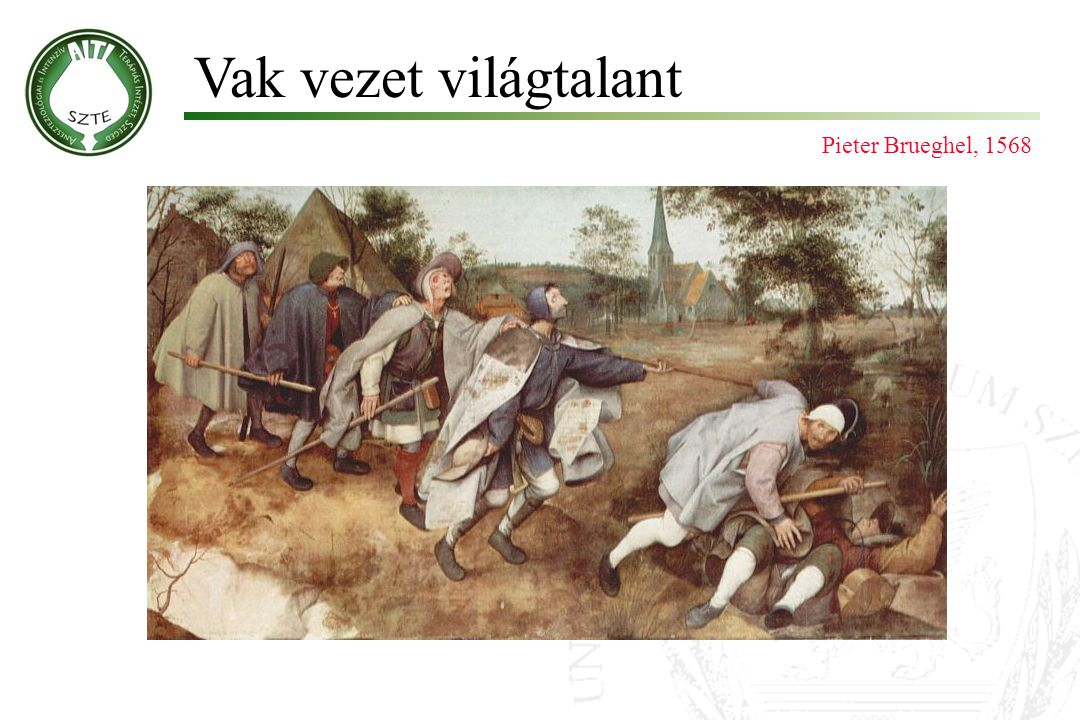 Vak vezet világtalant Pieter Brueghel, 1568