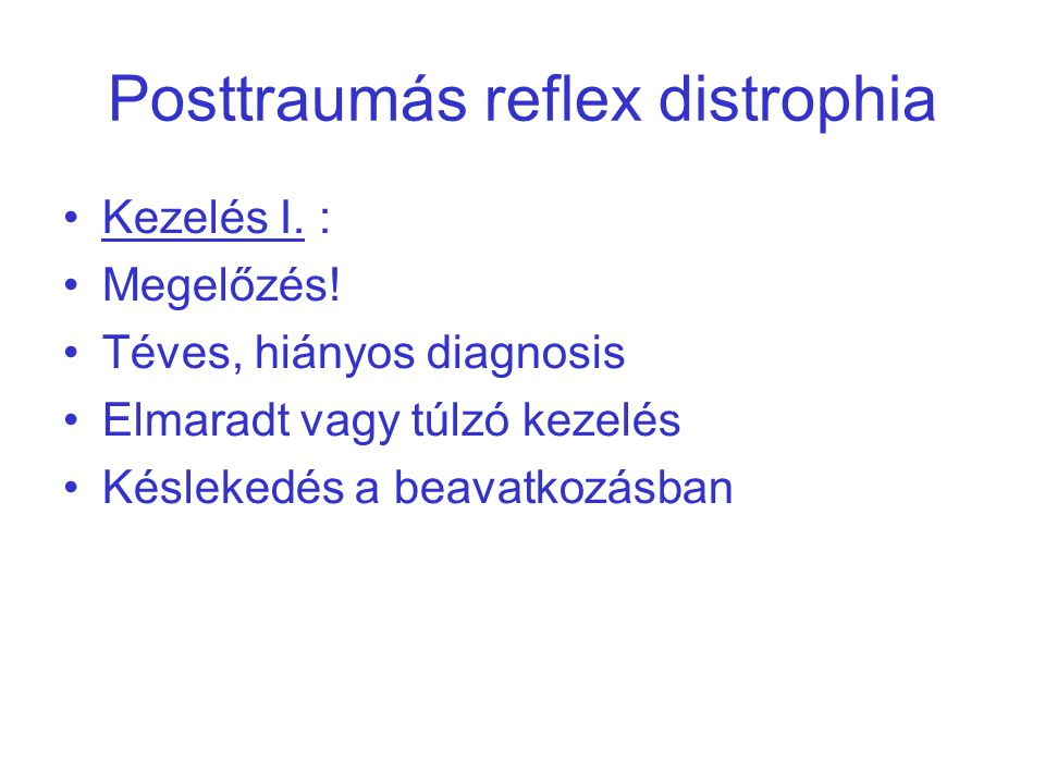 Posttraumás reflex distrophia