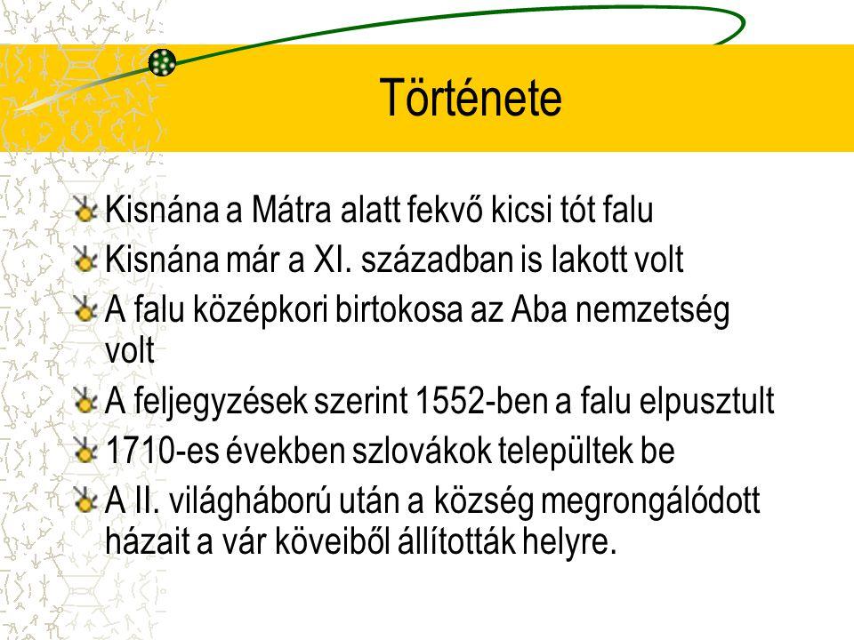 Története Kisnána a Mátra alatt fekvő kicsi tót falu