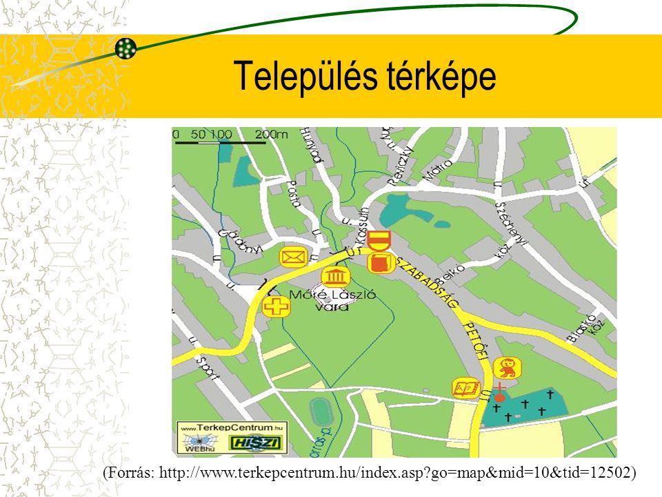 Település térképe (Forrás: http://www.terkepcentrum.hu/index.asp go=map&mid=10&tid=12502)