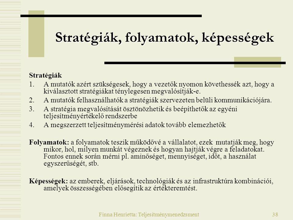 Stratégiák, folyamatok, képességek