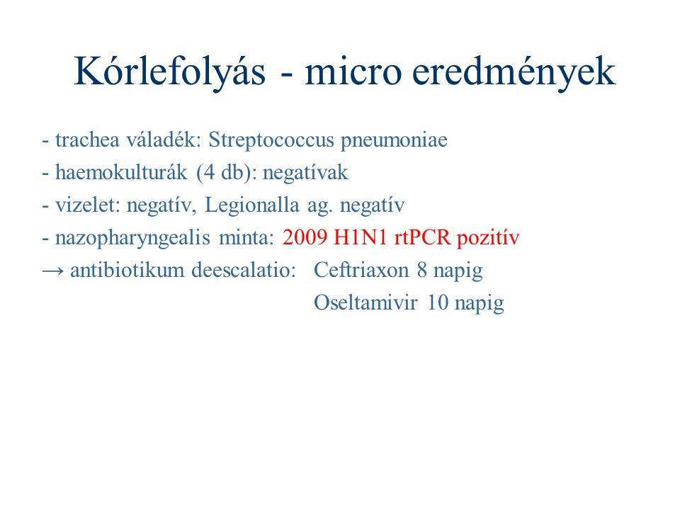 Kórlefolyás - micro eredmények