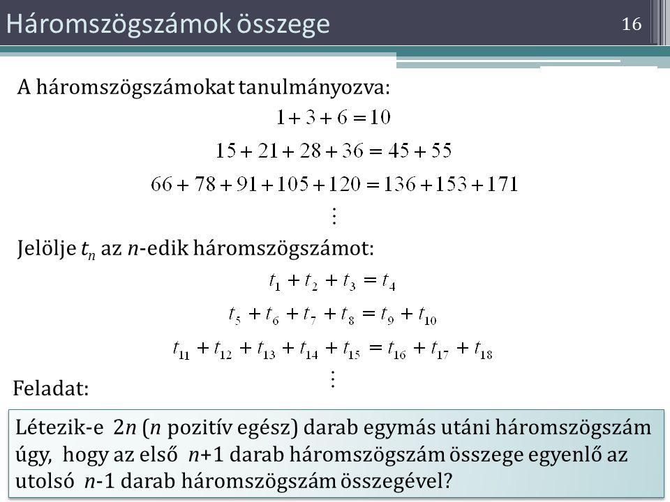 Háromszögszámok összege