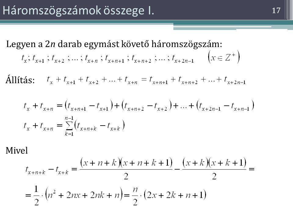 Háromszögszámok összege I.