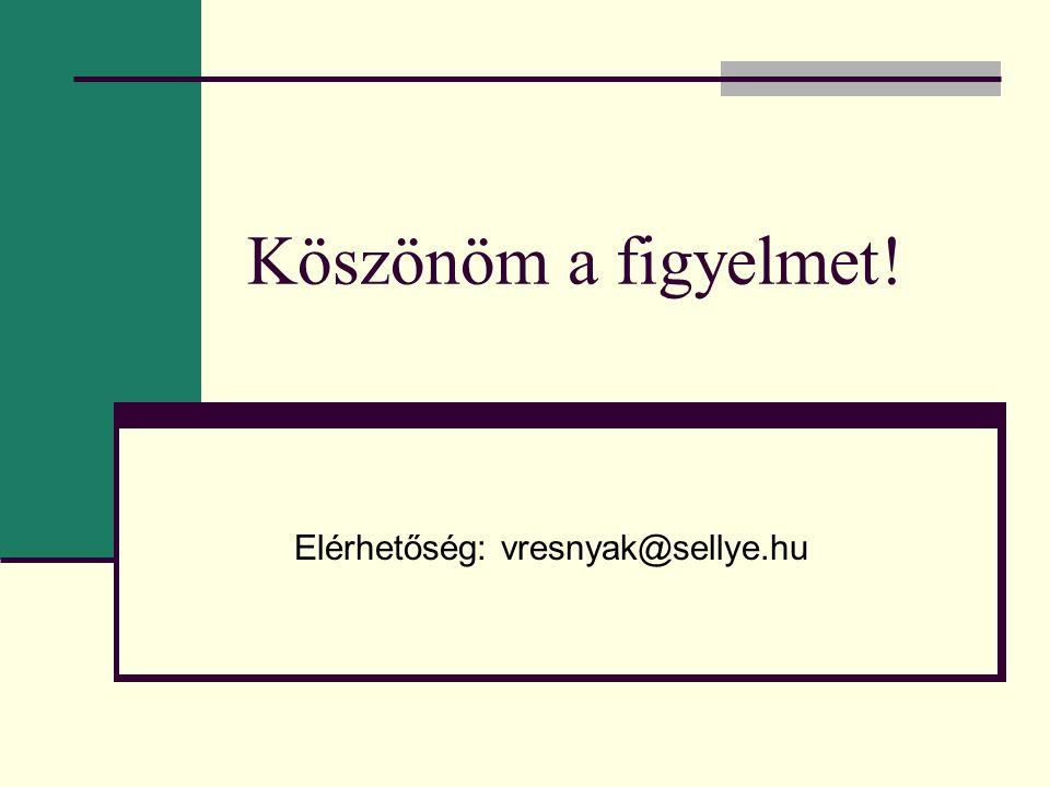 Elérhetőség: vresnyak@sellye.hu