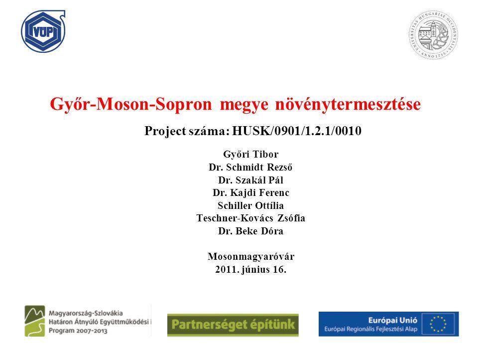 Győr-Moson-Sopron megye növénytermesztése