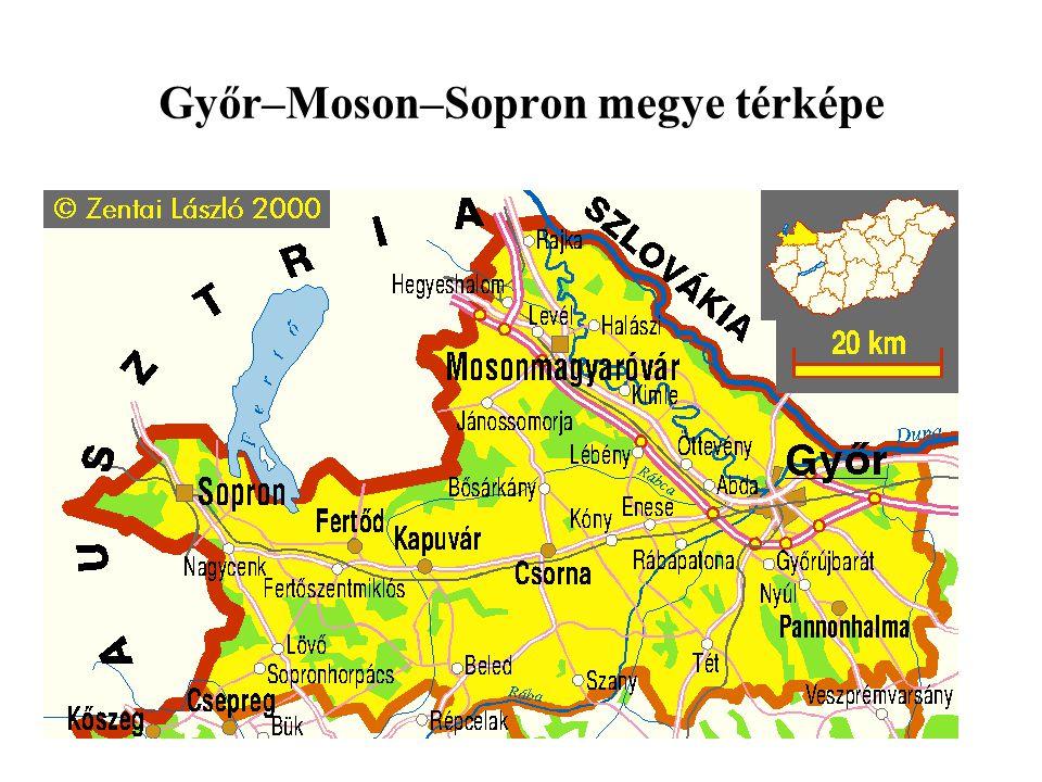 Győr–Moson–Sopron megye térképe