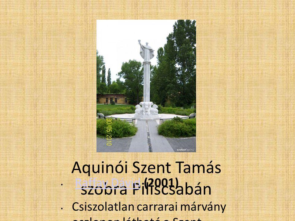 Aquinói Szent Tamás szobra Piliscsabán