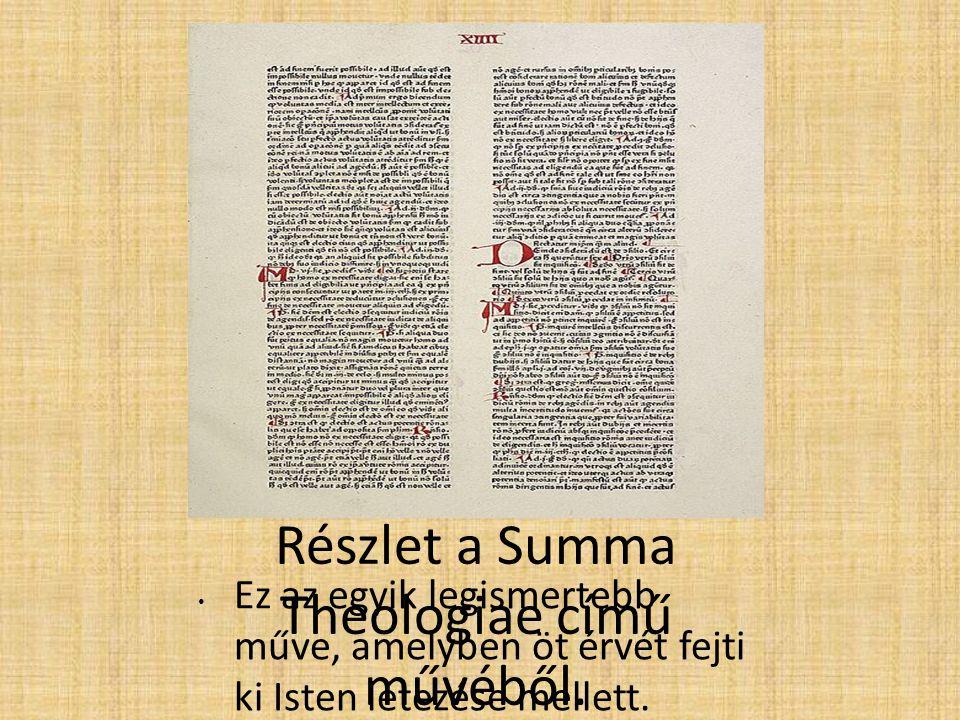 Részlet a Summa Theologiae című művéből.