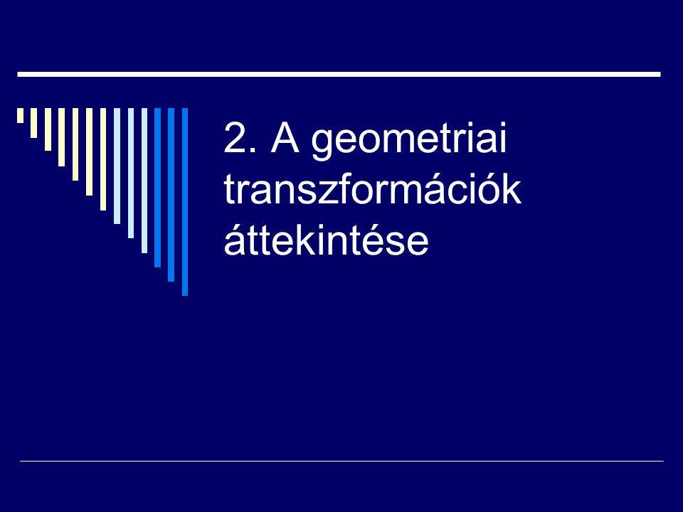 2. A geometriai transzformációk áttekintése