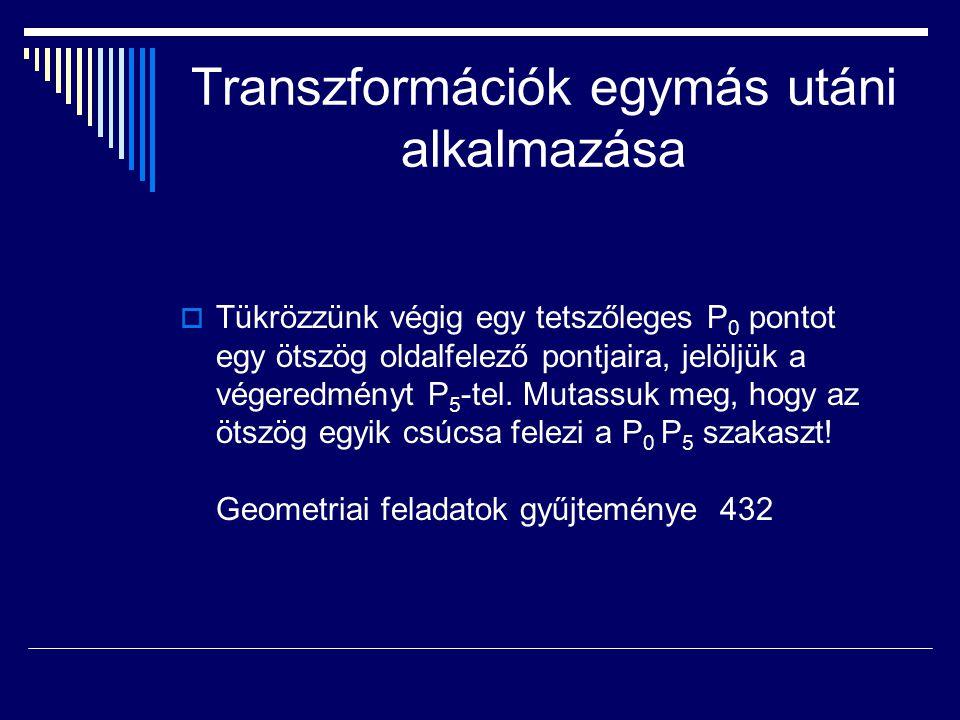 Transzformációk egymás utáni alkalmazása