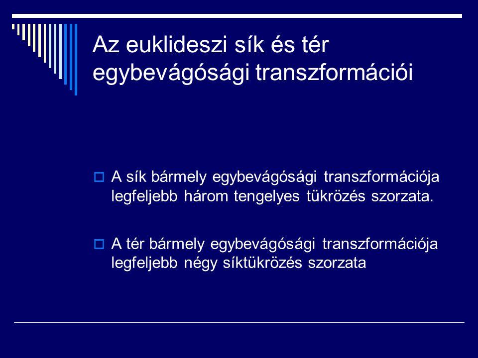Az euklideszi sík és tér egybevágósági transzformációi