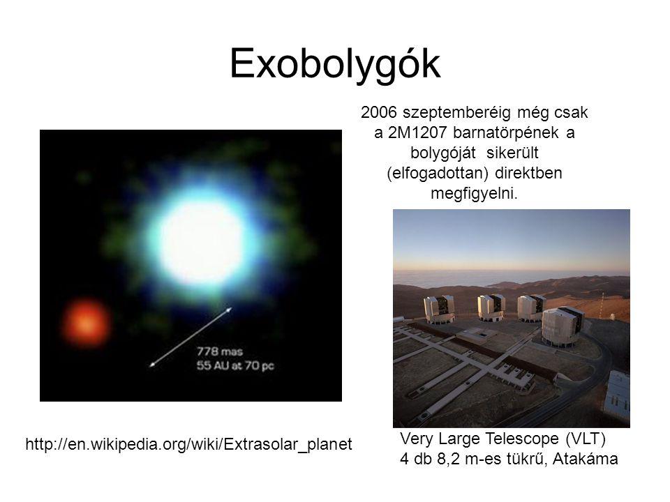 Exobolygók 2006 szeptemberéig még csak a 2M1207 barnatörpének a bolygóját sikerült (elfogadottan) direktben megfigyelni.