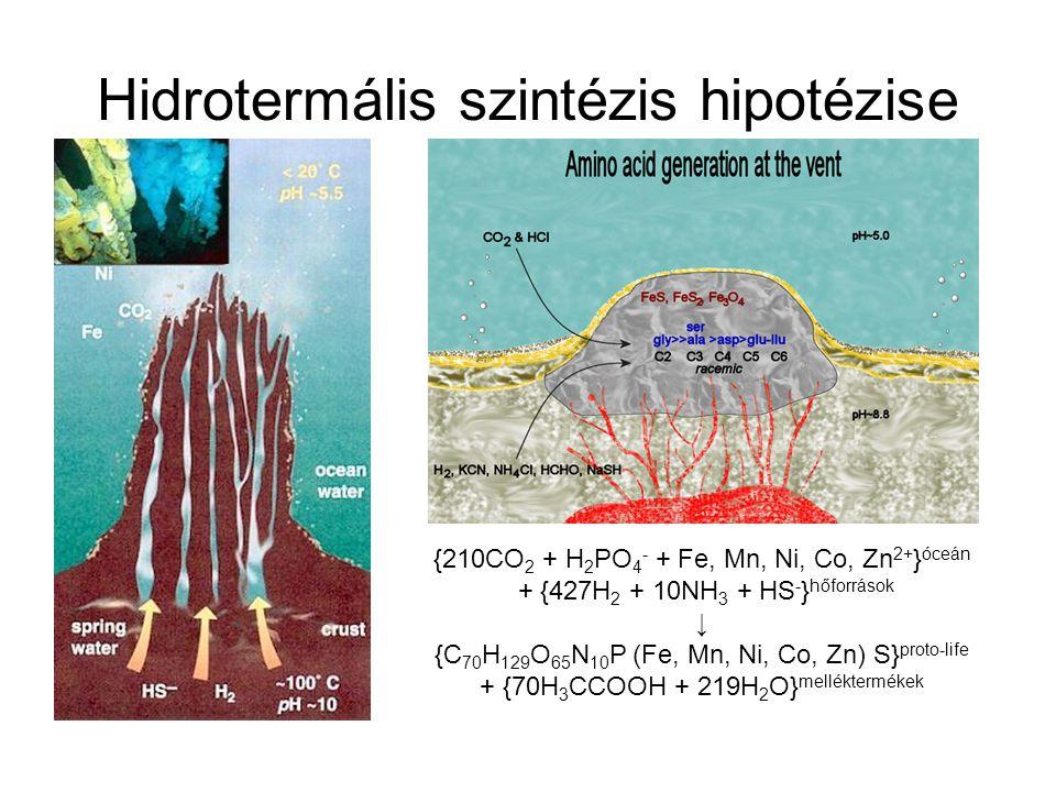 Hidrotermális szintézis hipotézise