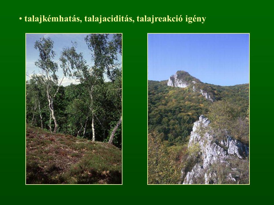 talajkémhatás, talajaciditás, talajreakció igény