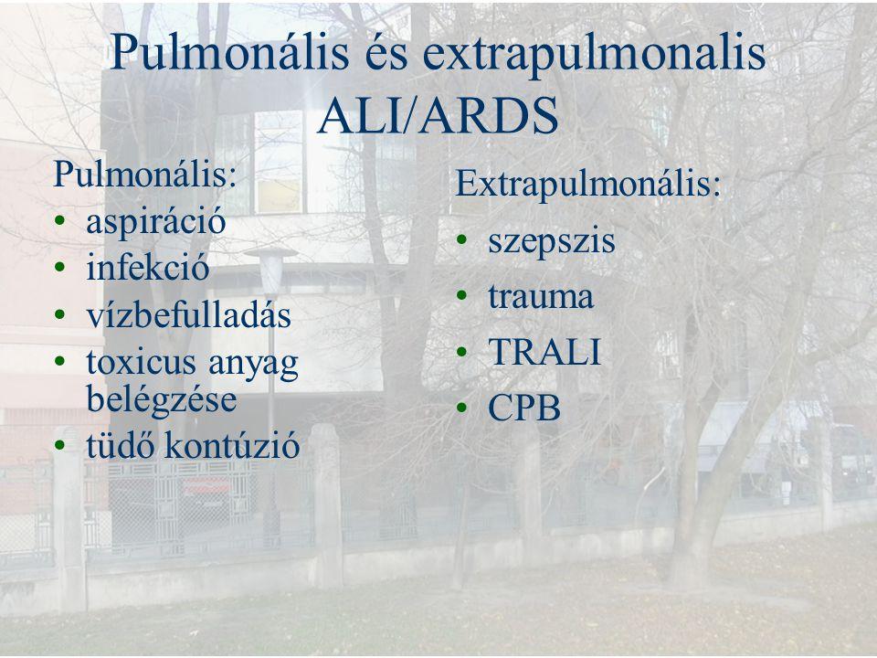 Pulmonális és extrapulmonalis ALI/ARDS