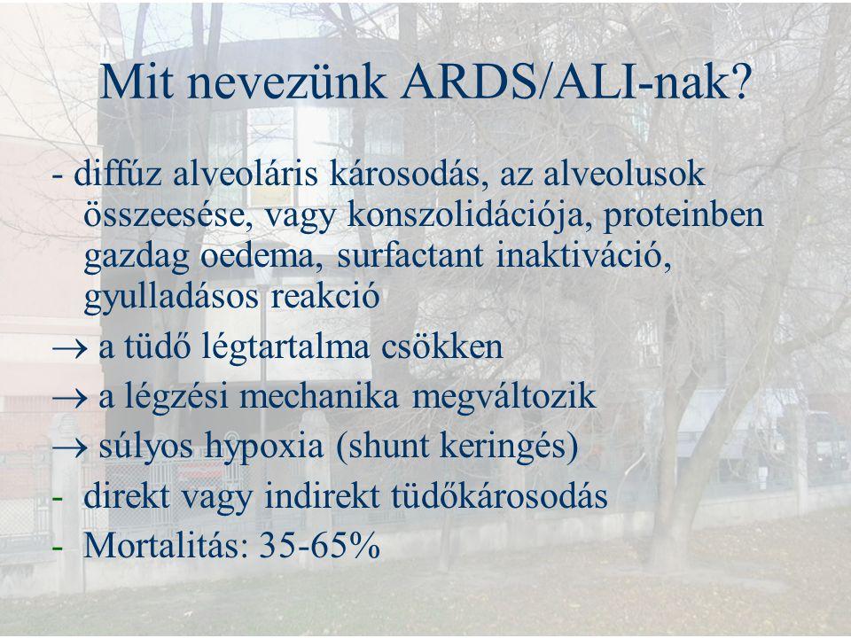 Mit nevezünk ARDS/ALI-nak