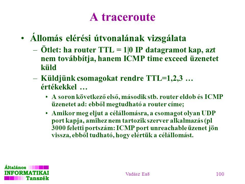 A traceroute Állomás elérési útvonalának vizsgálata