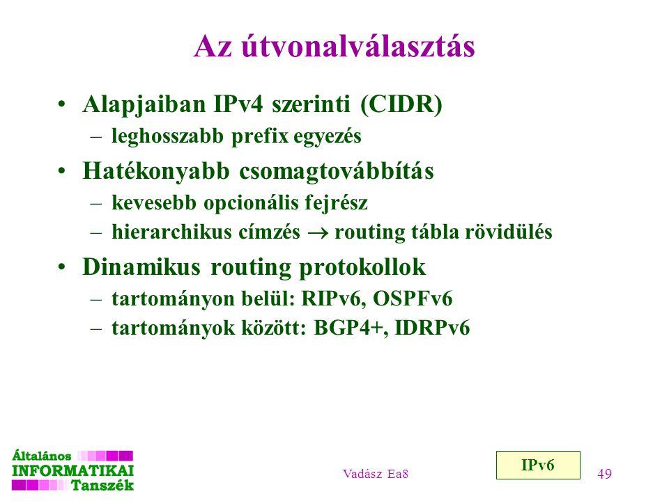 Az útvonalválasztás Alapjaiban IPv4 szerinti (CIDR)