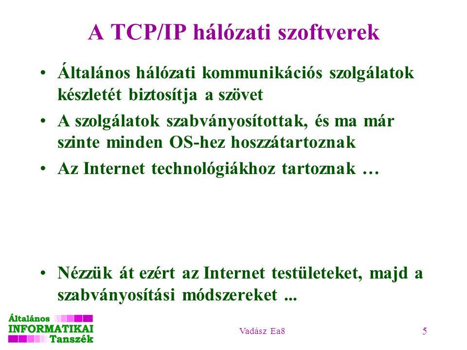 A TCP/IP hálózati szoftverek