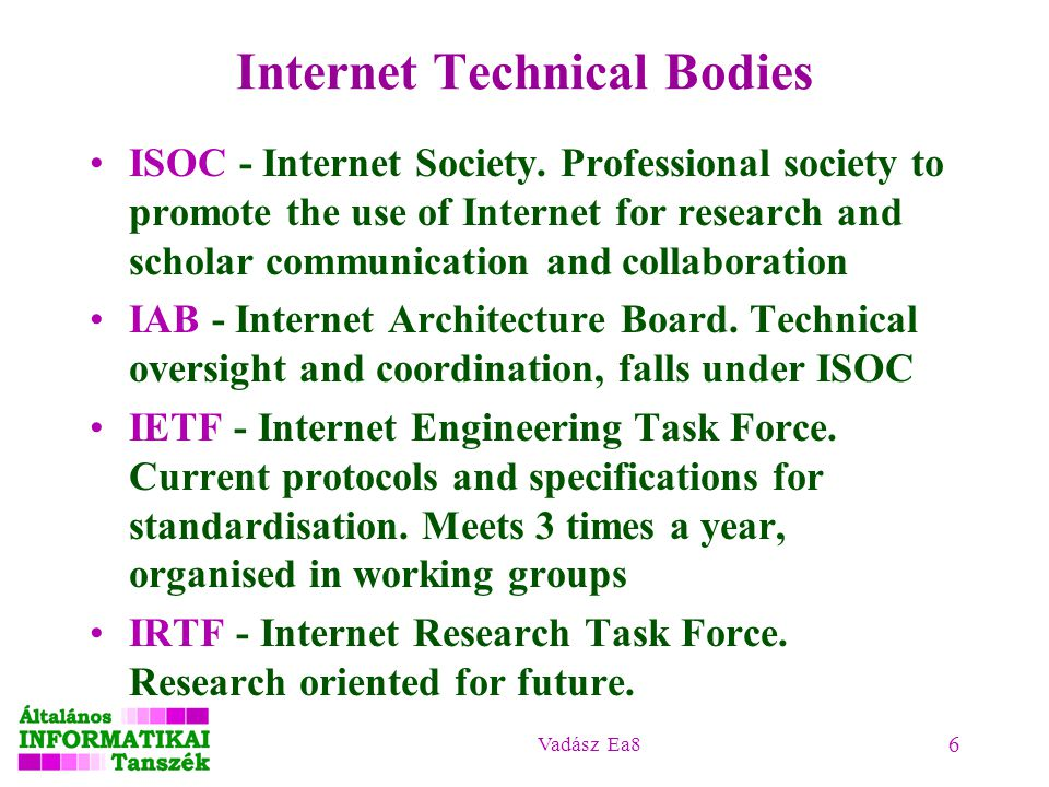 Internet Technical Bodies