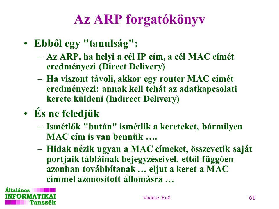 Az ARP forgatókönyv Ebből egy tanulság : És ne feledjük