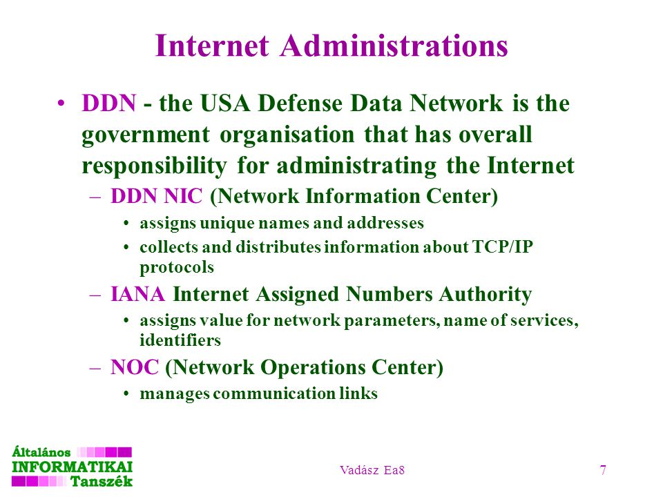 Internet Administrations