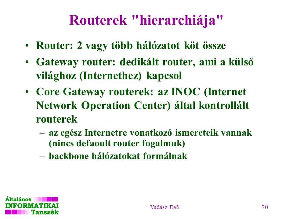 Routerek hierarchiája