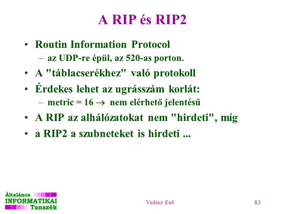 A RIP és RIP2 Routin Information Protocol