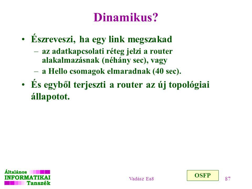 Dinamikus Észreveszi, ha egy link megszakad