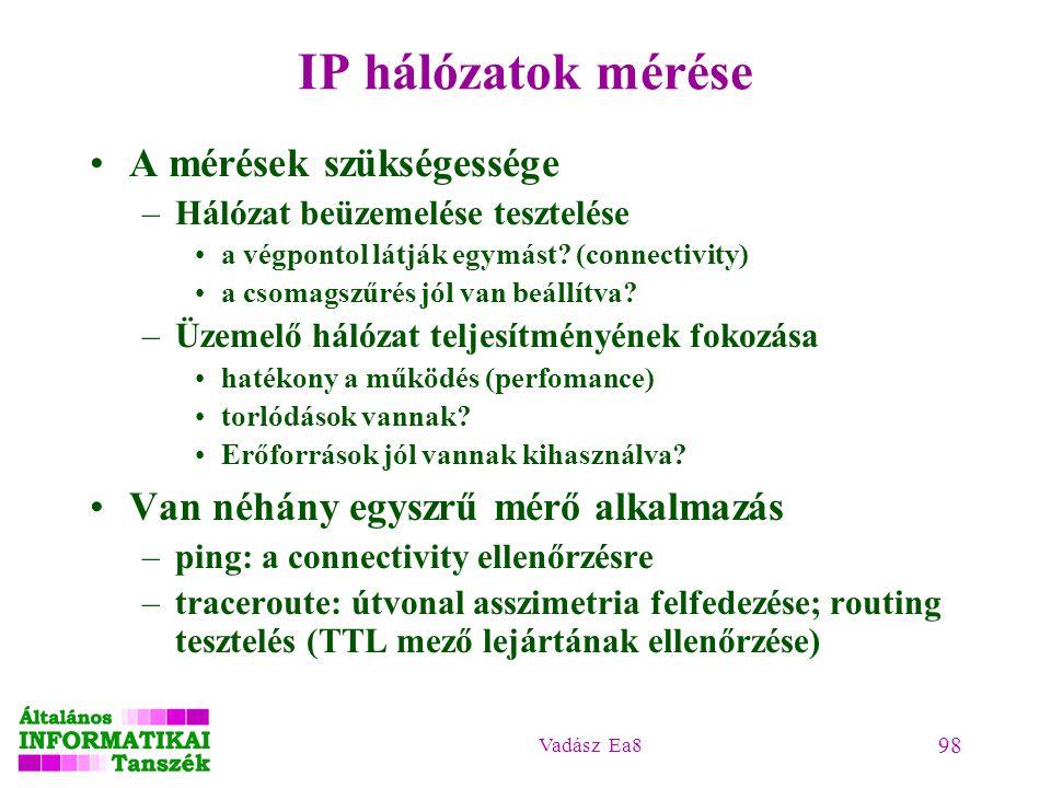 IP hálózatok mérése A mérések szükségessége