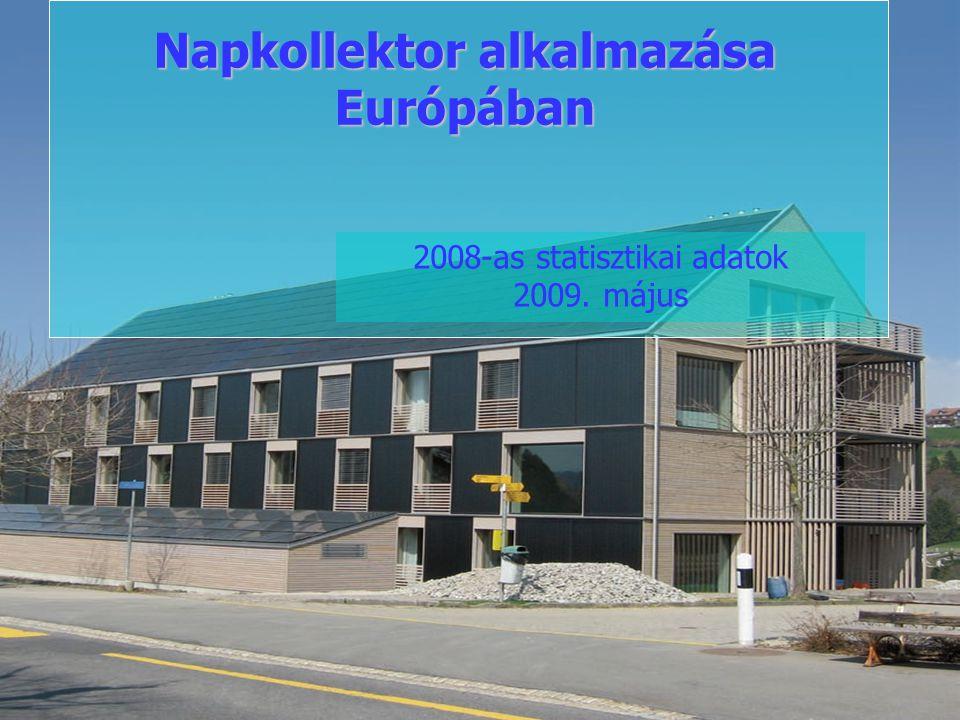Napkollektor alkalmazása Európában