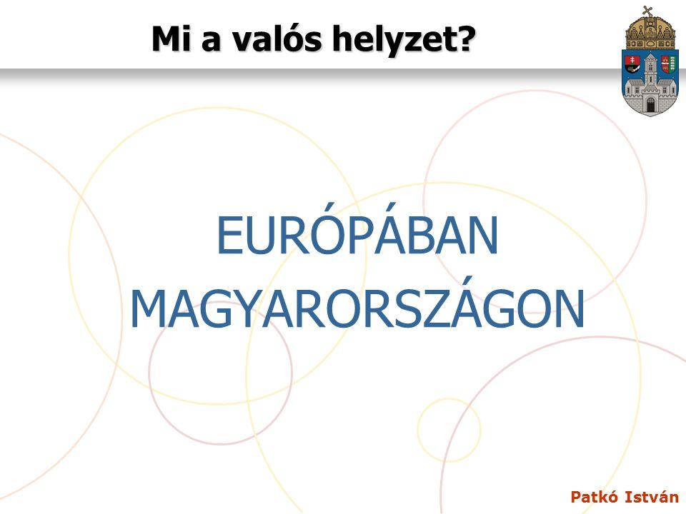 Mi a valós helyzet EURÓPÁBAN MAGYARORSZÁGON Patkó István