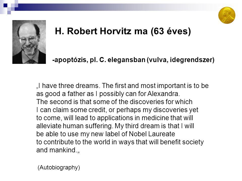 H. Robert Horvitz ma (63 éves)