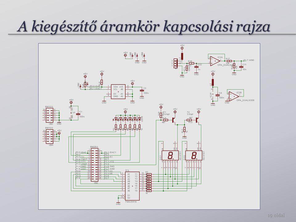 A kiegészítő áramkör kapcsolási rajza
