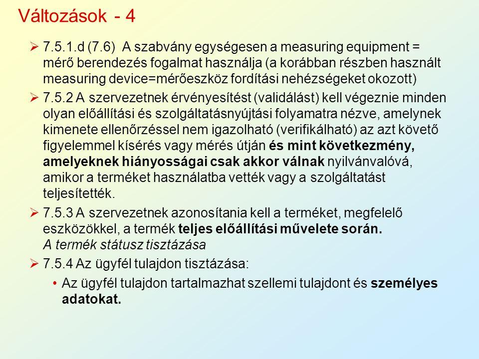Változások - 4