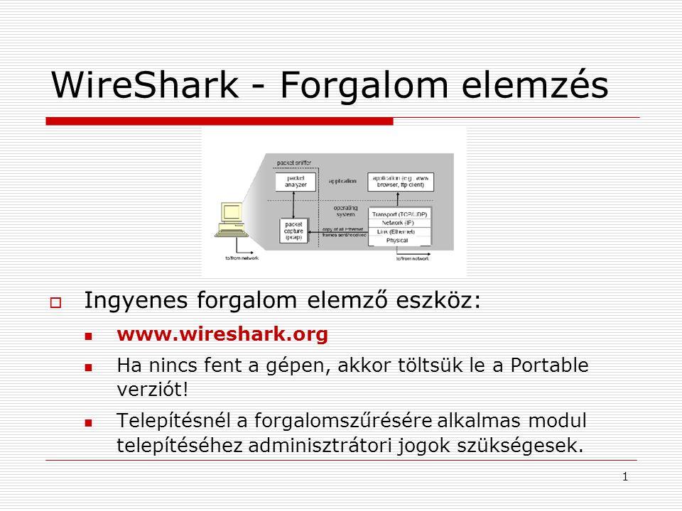 WireShark - Forgalom elemzés