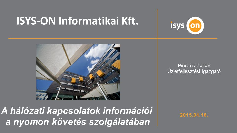 ISYS-ON Informatikai Kft.