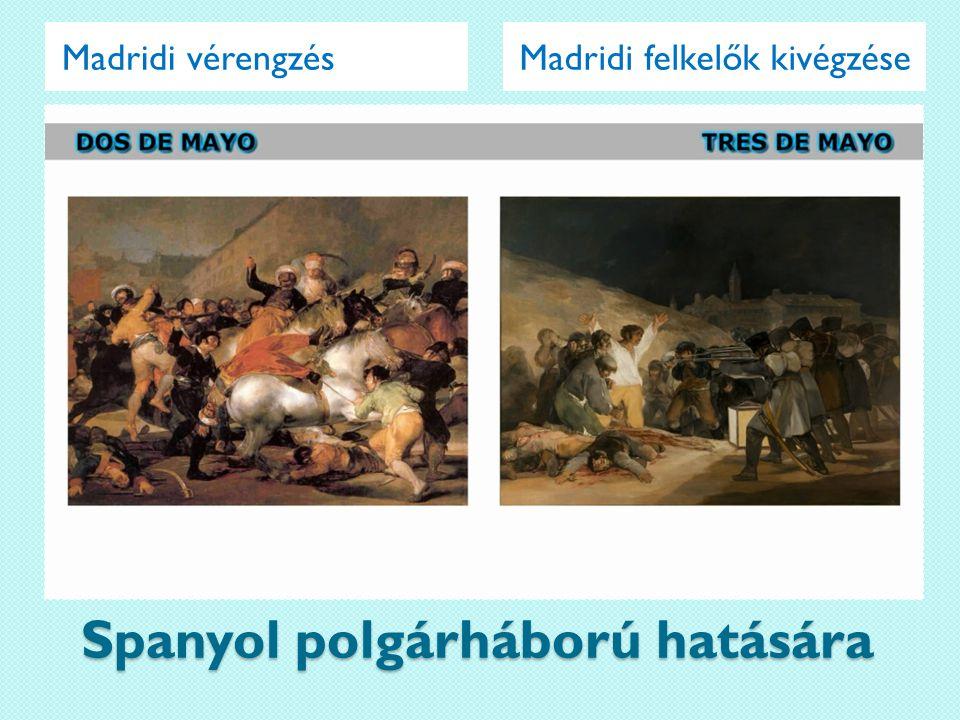 Spanyol polgárháború hatására