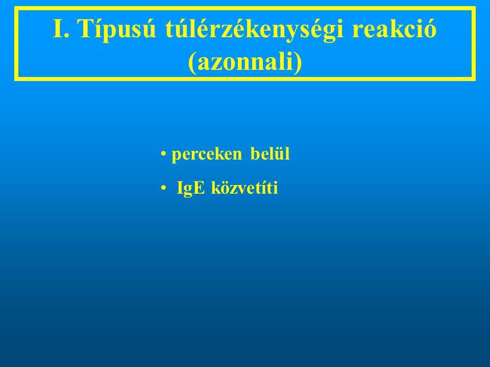 I. Típusú túlérzékenységi reakció (azonnali)