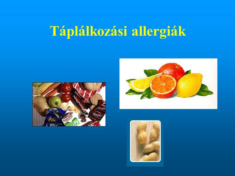 Táplálkozási allergiák