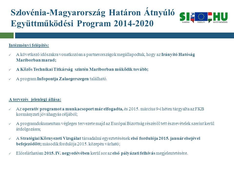 Szlovénia-Magyarország Határon Átnyúló Együttműködési Program 2014-2020