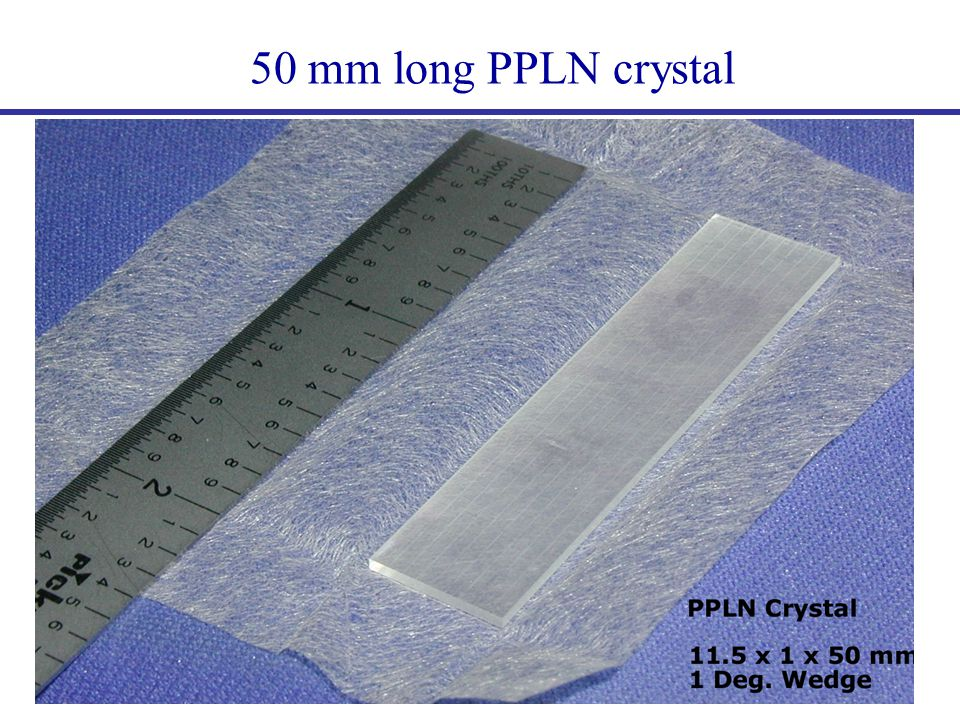 50 mm long PPLN crystal