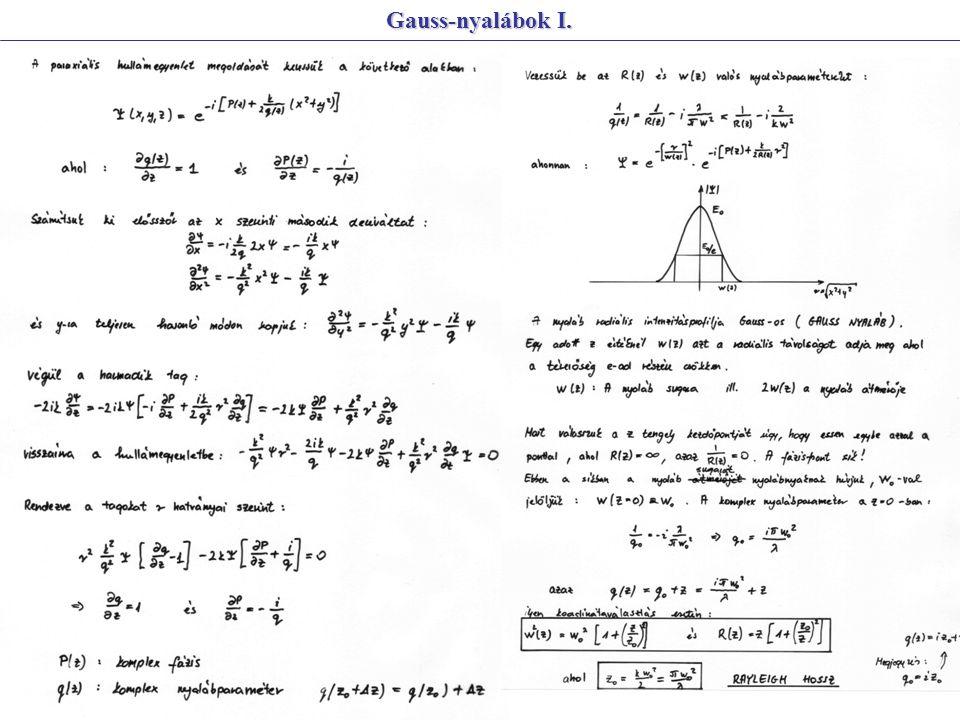 Gauss-nyalábok I.
