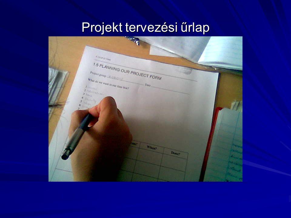 Projekt tervezési űrlap