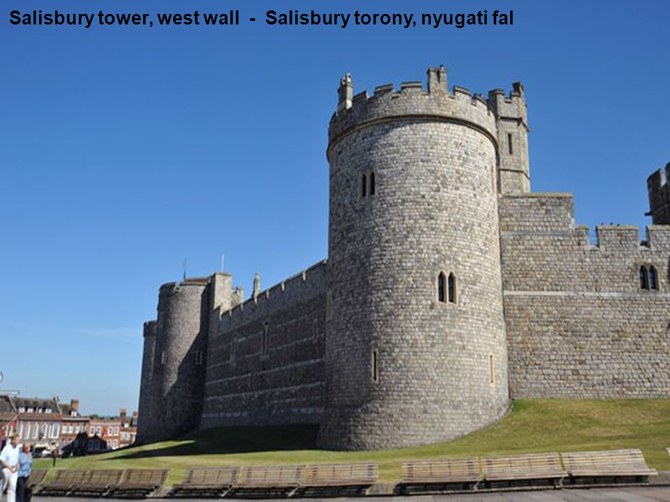 Salisbury tower, west wall - Salisbury torony, nyugati fal