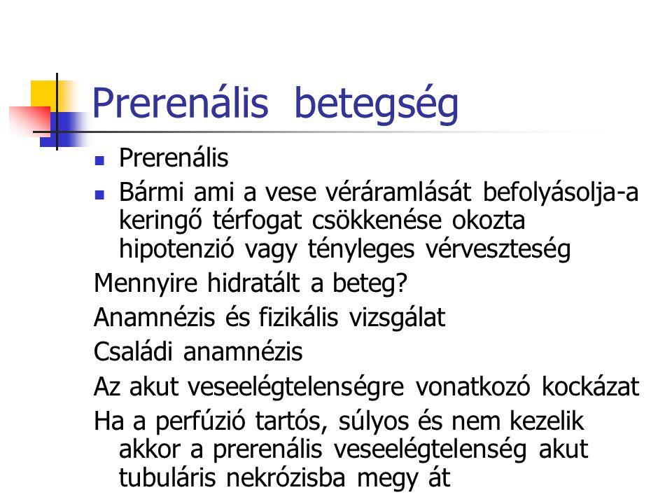Prerenális betegség Prerenális